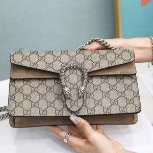 NEW Gucci Beige Ebony GG Dionysus Shoulder Bagsst